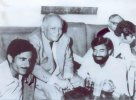 A photo of Faiz Ahmed Faiz with Karamat Ali and others - Late 1960s, (...)
