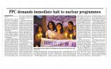 PPC candle light vigil on 25th anniversary of Chernobyl (26 April (...)