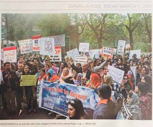 Photo of Anti War Rally in Lahore 28 Feb 2019